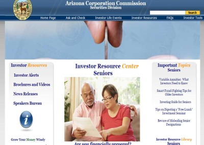 ARIZONA:  Senior Investor Resource Center
