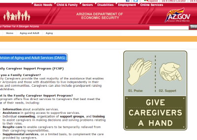 Arizona Family Caregiver Support Program