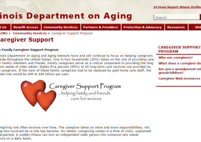 Illinois Department on Aging Caregiver Support