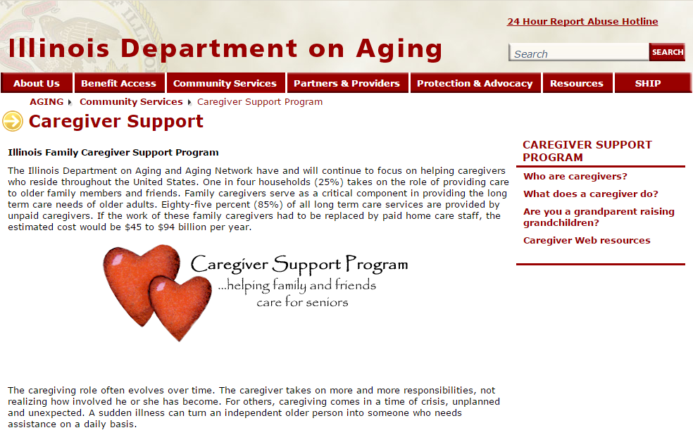 Illinois Department on Aging   AgingCare.com
