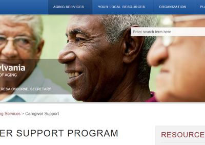 Pennsylvania Department of Aging Caregiver Support Program