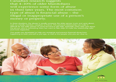 MANITOBA: Identifying and Preventing Financial Abuse: A Guide for Older Manitobans
