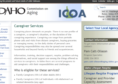 Idaho Commission on Aging Caregiver Services